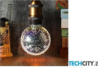 G95 Star Silver Plated Glass 3D Star LED Bulb