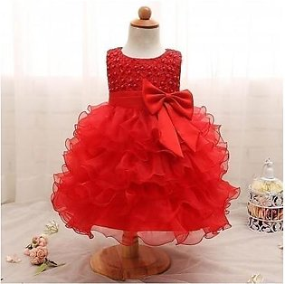 Red Christening Gown Princess Dress