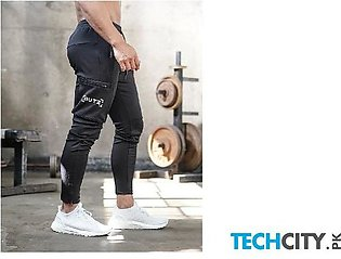 Gymcucgv Black Pockets Cotton Midweight Sweat Pants