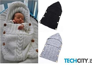 Grey Wrap Warm Wool Crochet Knitted Sleeping Bag