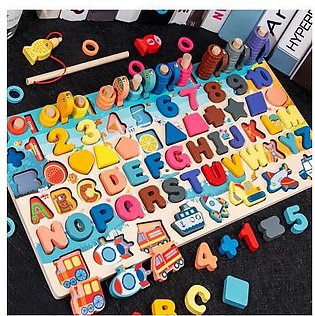 Kids Wooden Blocks Education Magnetic Stick Cognitive Magnetic Numbers And Alph…