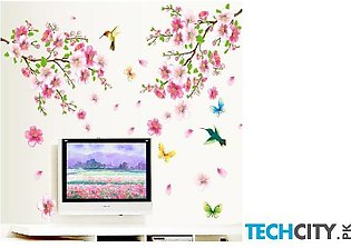 Blossom Birds Flower Wall Stickers AT-981