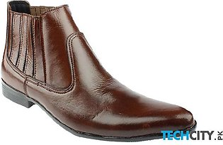 Choco Brown Leather Cow Boy Boots LC-338