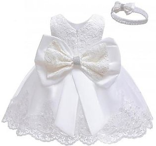 Keaiyouhuo White Polyester Sleeveless Solid Girls Dress