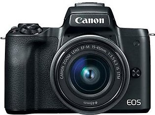 Canon EOS M50 Mirrorless Camera with EF-M 15-45mm IS STM Kit