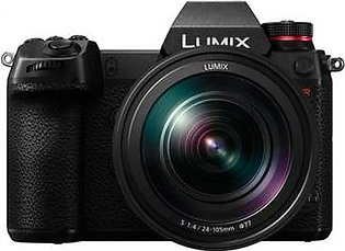 Panasonic LUMIX S1R Kit, Digital Mirrorless Camera with 47.3MP MOS Full Frame, 24-105mm F4 L-Mount Lens