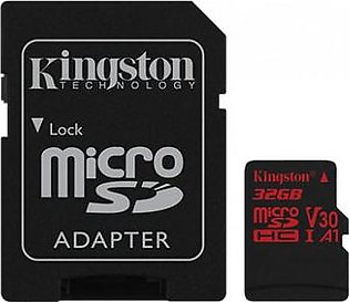 Kingston Canvas React MicroSD Memory Card with SD Adapter