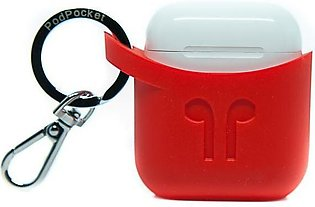 PodPocket Apple AirPods Case - Blazing Red