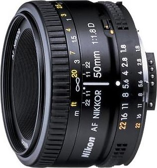 Nikon AF Nikkor 50mm f/1.8D Digital Camera Lens