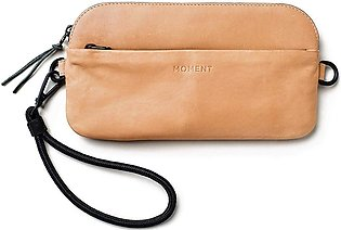 Moment Crossbody Wallet - Natural Leather