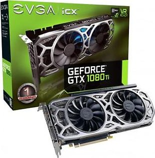 EVGA GeForce GTX 1080 Ti SC2 Gaming, 11GB GDDR5X, iCX Technology - 9 Thermal Sensors & RGB LED G/P/M Graphics Card