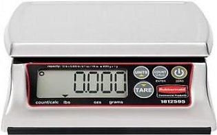 Rubbermaid 1812595 12 lb Dishwasher Safe Stainless Steel Digital Portioning Scale