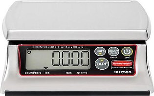Rubbermaid 1812595 12 lb Dishwasher Safe Stainless Steel Digital Portioning S...