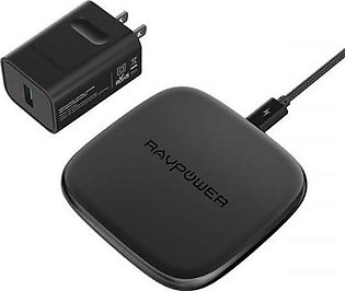 RAVPower Fast Wireless Charger with HyperAir Qi Wireless Charging Pad