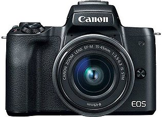 Canon EOS M50 Mirrorless Camera with EF-M 15-45mm IS STM Kit - Black