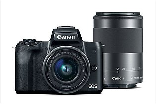 Canon EOS M50 EF-M 15-45mm f/3.5-6.3 & 55-200mm f/4.5-6.3 IS STM Mirrorless Cam…