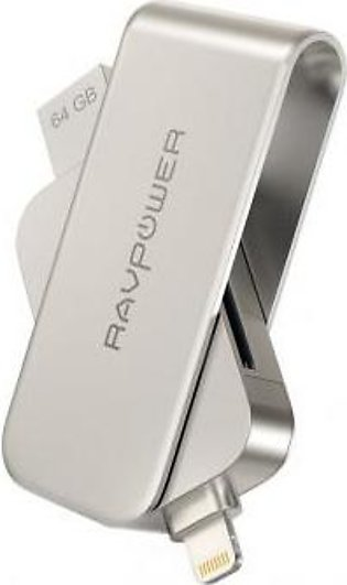 RAVPower Flash Drive 64GB USB 3.0 SD Memory Card Reader For iPhone