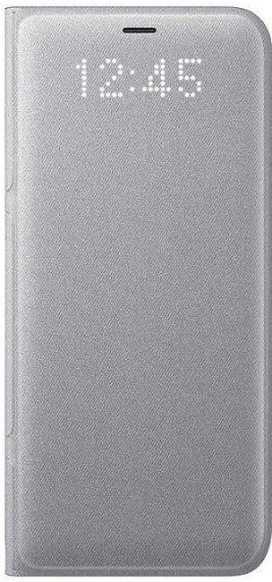 Samsung Galaxy S8 LED Wallet Cover - Silver