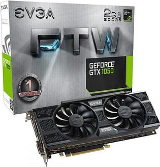 EVGA GeForce GTX 1050 FTW Gaming, 2GB GDDR5, ACX 3.0 Graphics Card