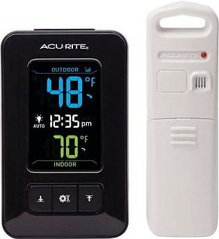 AcuRite Color Digital Thermometer with Outdoor Temperature