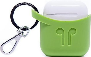 PodPocket Apple AirPods Case - Pear Green