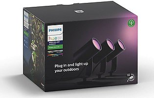 Philips Hue White and Color Ambiance Lily Outdoor Spot Light with Base Unit