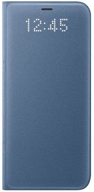Samsung Galaxy S8 LED Wallet Cover - Blue