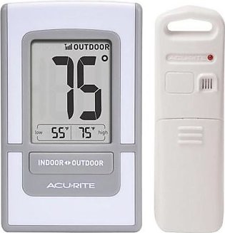 """AcuRite 4.5"""" Silver Digital Outdoor Thermometer"""
