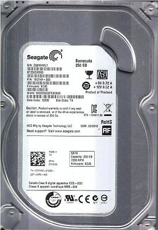 Seagate BarraCuda Desktop Internal Hard Drive - 250GB