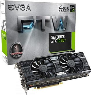 EVGA GeForce GTX 1050 Ti FTW Gaming, 4GB GDDR5, ACX 3.0 Graphics Card