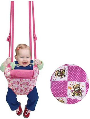Baby Girl Exercise Doorway Bouncer Jumper 30 kg support Pink