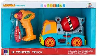 Infrared Control Cement Toy Truck With Light And Sound