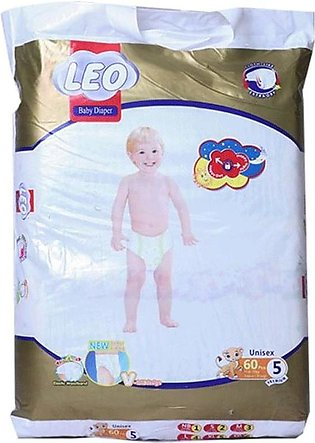 Leo Premium Baby Diapers Size (XL)- 60 Pcs