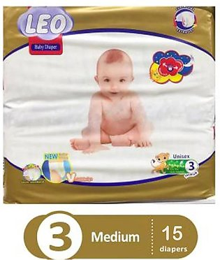 Leo Baby Diaper Size 3 (Medium) 15 pcs
