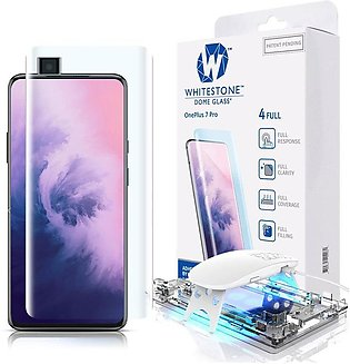 Whitestone Dome Tempered Glass Screen Protector with UV For OnePlus 7 Pro