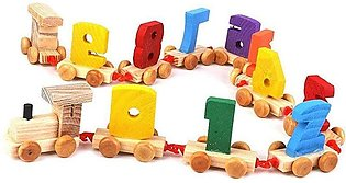 Wooden Digital Numbers Train Toy Kids Wood Set