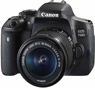 Canon EOS 750D Dslr With 18-55mm Lens, 16GB Card, Filter, Bag