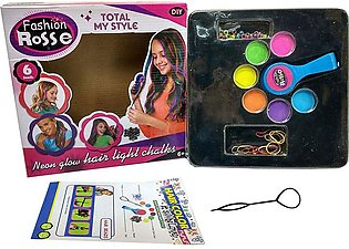 Fashion Rosse Neon Glow Highlight Chalks for Girls