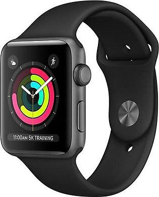 Apple Watch Series 3 42MM Space Gray Aluminum Case with Black Sport Band (GPS)