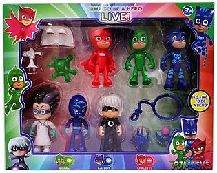 PJ Masks 6 Action Figures and Accessories Set 4 inches