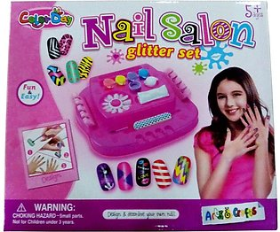 Girls Nail Glitter Saloon Set