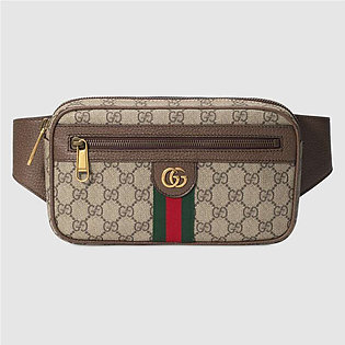 Gucci Beige & Ebony Ophidia Belt Bag