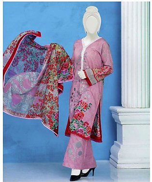 Summer Collection Unstitched Lawn Embroidered 3pc suit with Lawn dupata -614 By…
