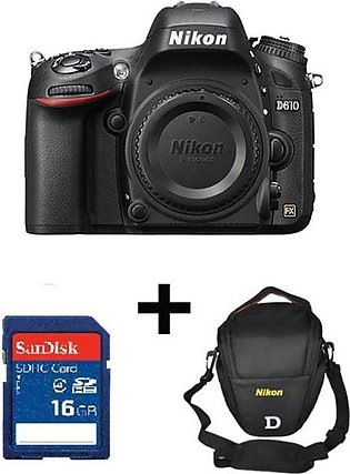 Nikon D610 Dslr Camera Body Only With 16GB Card, Bag & Warranty