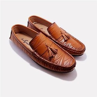 Footscape's Handmade Tan Loafers For Men FS2233