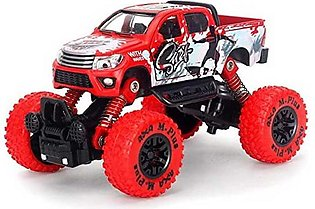 Monster Die-Cast Car 4X4 Pull Back Metal 1/30 Alloy 4WD Big Wheels Shock Resist…