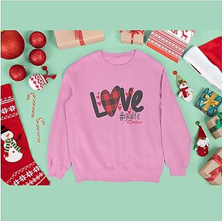 Love Printed Sweat Shirt for Women By R&H