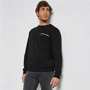Trendyol Zipped Pocket Sweatshirt Black for Men