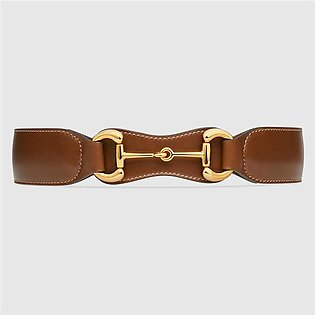 Gucci Brown Leather Belt With Horsebit
