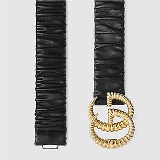 Gucci Black Belt With Torchon Double G Buckle